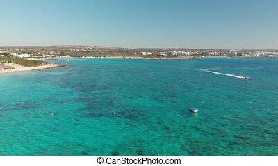 A fragment of the sea coast near Ayia Napa, Cyprus -...