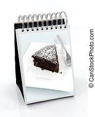 A Frame Cookbook - A receipt A frame binder isolated on...
