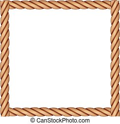 A frame made of rope on a white background