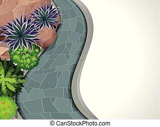 A frame of garden