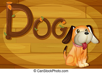 A frame with a dog