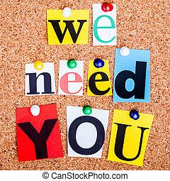 a, frase, nós, necessidade, tu, em, recorte, revista,...