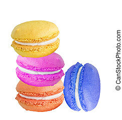 A french sweet delicacy, macaroons