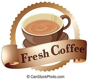 A fresh coffee label