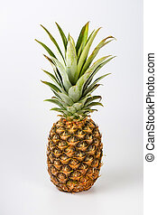 A Fresh pineapple fruit on white background