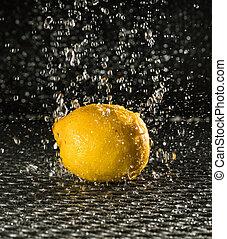 lemon in the rain