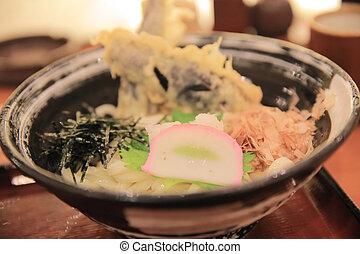 Fried Shrimps set ,Tempura Japanese cuisine