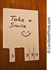 a friendly smile takeaway
