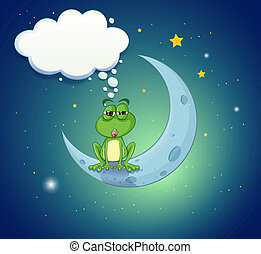 A frog at the sky with an empty callout