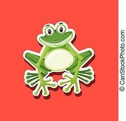 A frog character animal