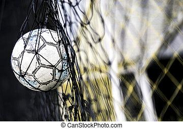 Fussballnetz Kugel Ziel Spielergebnisse Kugel Ziel