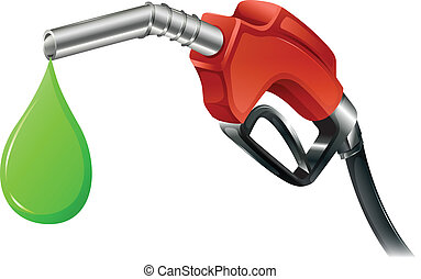 A fuel pump - Illustration of a fuel pump on a white...