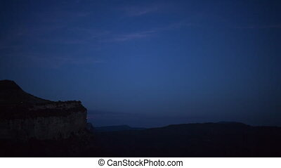 a full moon nighttime timelapse of the beautiful tavatet...