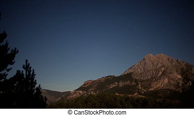 a full moon nighttime timelapse of the beautiful pedra forca...