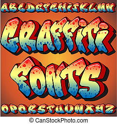 A Full Set of Graffiti Fonts