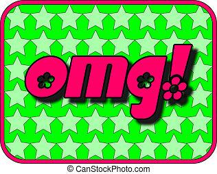 OMG! - A fun icon with OMG! (Oh My God!)