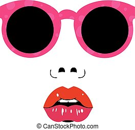 Female Face with Sunglasses