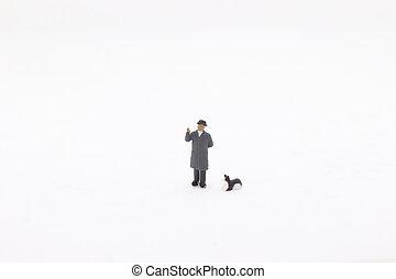 a fun of mini figure on display