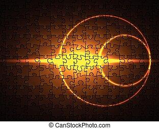 a, fundo, de, a, quebra-cabeça, padrão
