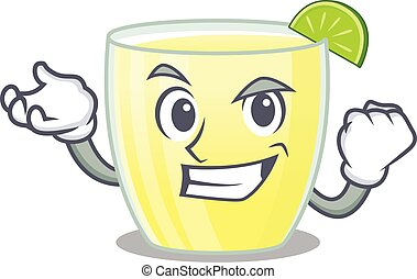 A funny cartoon design concept of daiquiri cocktail with happy face