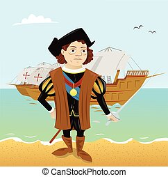 a funny Christopher Columbus just landed in America