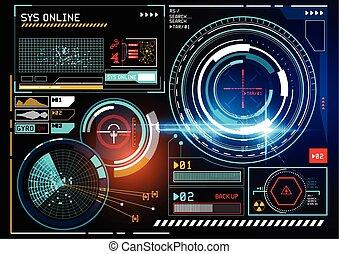 futuristic HUD display