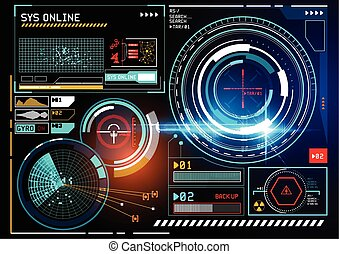 futuristic HUD display