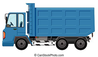 A garbage truck on white background