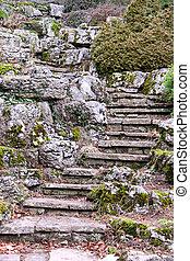 A garden rockery