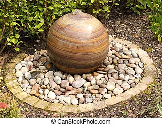 A gardens water feature