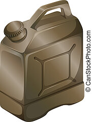 A gas cylinder - Illustration of a gas cylinder on a white...