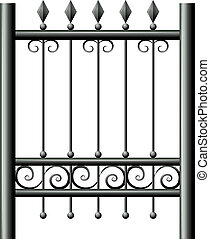 A gate - Illustration of a gate on a white background