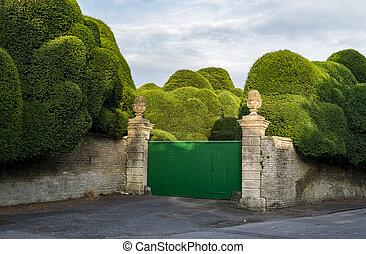 gated English garden