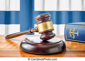 A gavel and a law book - Finland