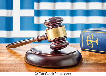 A gavel and a law book - Greece
