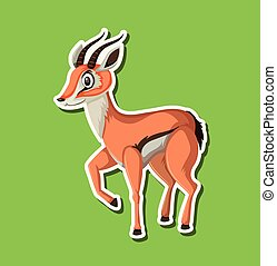 A gazelle sticker character