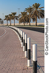 A general view of the waterfront of Sharjah UAE