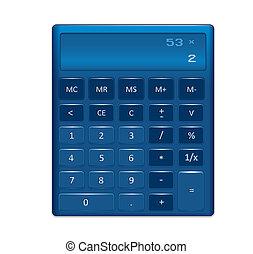 A generic electronic calculator vector illustration