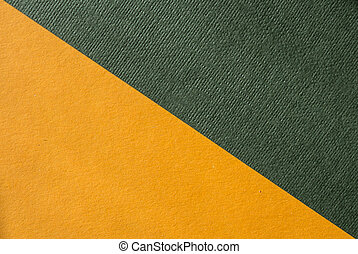 a geometric shapes with a variety of papers yellow and green