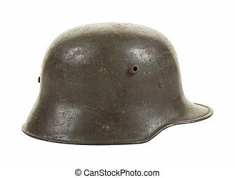 A German WW1 Steel Combat Helmet - A German M1916 steel...