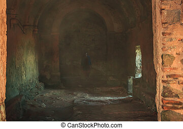 A ghost in the Interior of the Sanctuary of Peninha