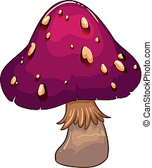 A giant mushroom plant - Illustration of a giant mushroom...