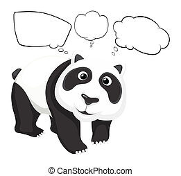 A giant panda with empty callouts - Illustration of a giant...