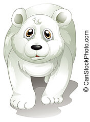 A giant white polar bear - Illustration of a giant white...