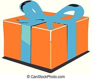 a gift box icon on white background