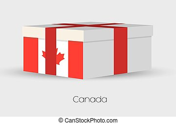 Gift Box with the flag of Canada