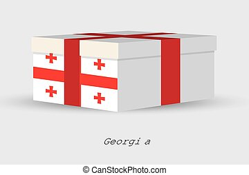 Gift Box with the flag of Georgia