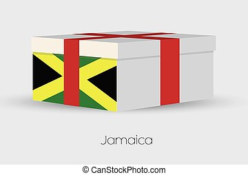 Gift Box with the flag of Jamaica - A Gift Box with the flag...
