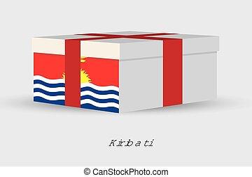 Gift Box with the flag of Kiribati
