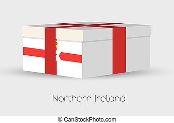 Gift Box with the flag of Northern Ireland